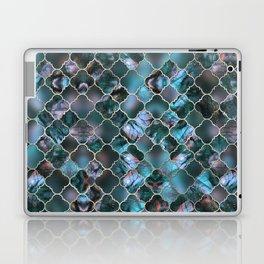 Quatrefoil Moroccan Pattern Labradorite Laptop & iPad Skin