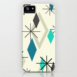 Mid Century Modern Diamonds iPhone Case