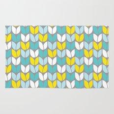 Tulip Knit (Aqua Gray Yellow) Rug