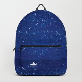 Zen sailing, ocean, stars Backpack