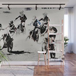 The Race is On  - Motocross Racers Wall Mural