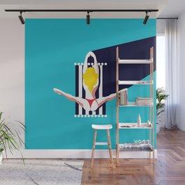 Yoga Girl Wall Mural