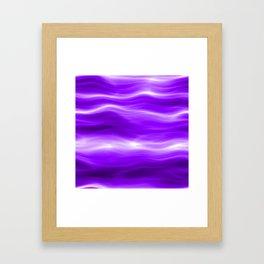 Violet energy Framed Art Print