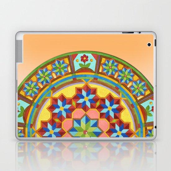 Westminster Mandala on Orange Ground Laptop & iPad Skin