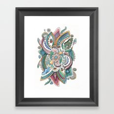 Twisted love for a sea butterfly Framed Art Print