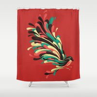 window Shower Curtains featuring Avian by Jay Fleck