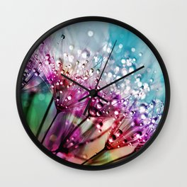 Dewdrops & Rainbows Wall Clock