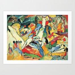 "Vasily Kandinsky Sketch for ""Composition II"" Art Print"