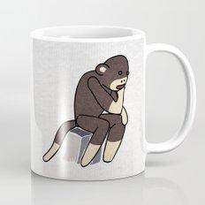 Sock Monkey Thinking Mug