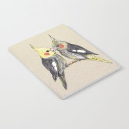 Two cute cockatiels Notebook