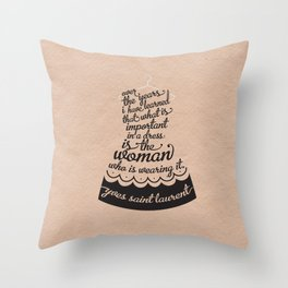 Little Black Dress Throw Pillow
