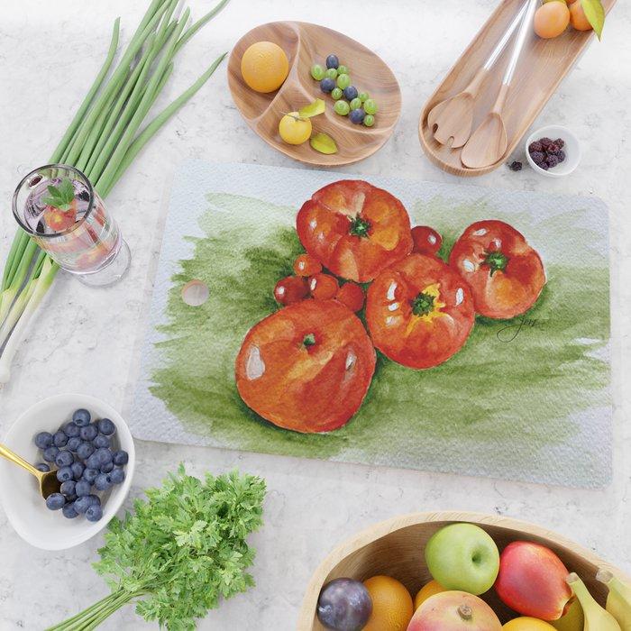 Garden Tomatoes Cutting Board