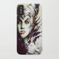 maleficent iPhone & iPod Cases featuring Maleficent by Vincent Vernacatola