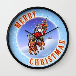 Merry Christmas Snowglobe! Wall Clock
