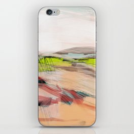 landscape in pastel abstract iPhone Skin