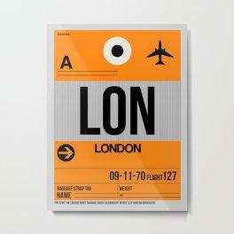 LON London Luggage Tag 1 Metal Print