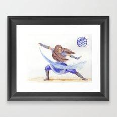 Avatar - Water Bending Framed Art Print