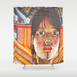 Continental Summit of Indigenous Peoples Mural Shower Curtain