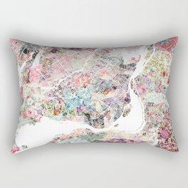 Montreal map - Landscape orientation Rectangular Pillow