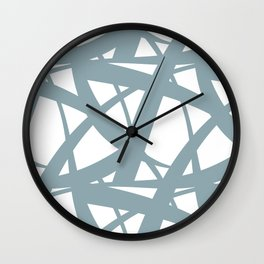 Pale Blue & White Abstract Mosaic Pattern 3 Pairs to Clare's 2020 Color of The Year Good Jeans Wall Clock