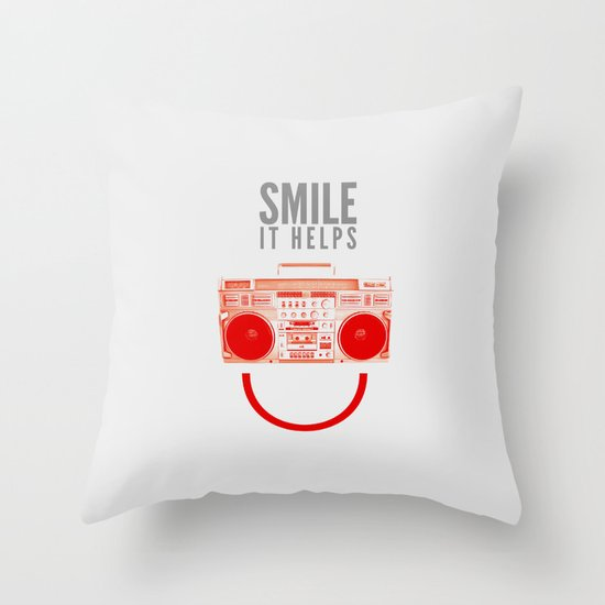 Smile. It Helps. Throw Pillow