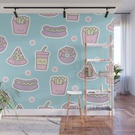 Kawaii Junk Food Wall Mural