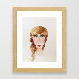 Blue Eyed Lady- Joni Framed Art Print