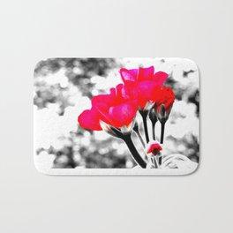 Hot Pink Flowers Pop Of Color Bath Mat