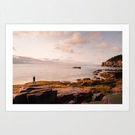 Otter Cliff Sunrise Art Print