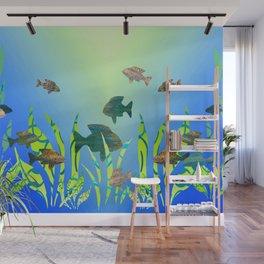 Modern Fish in the Aquarium Wall Mural