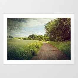 Follow the Farm Road Art Print