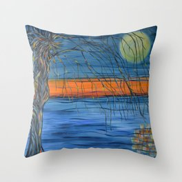 Pulling the Tides Throw Pillow