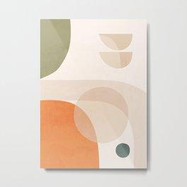 Abstract Minimal Shapes 41 Metal Print