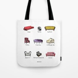 SOFAS FROM FILMS Tote Bag