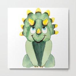 Baby Triceratops Metal Print