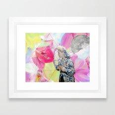 FLOWERS OR LOVERS Framed Art Print