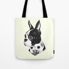 Dog - Tattooed BostonTerrier Tote Bag