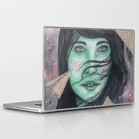 planes Laptop & iPad Skins featuring Paper planes  by Pendientera