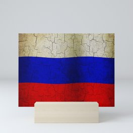 Grunge Russia flag Mini Art Print