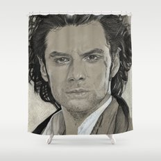 Aidan Turner: Poldark Shower Curtain