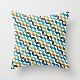 People's Flag of Milwaukee Mod Pattern Throw Pillow
