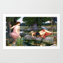 Echo And Narcissus WM Waterhouse Art Print