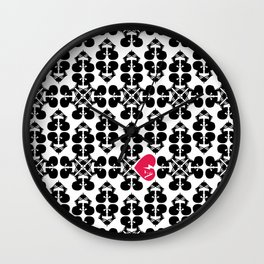 Skullz and Lace Wall Clock