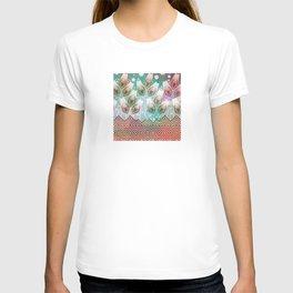 Abstract Flower Pattern T-shirt