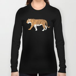 Tiger Trendy Flat Graphic Design Long Sleeve T-shirt