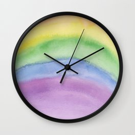 Discreet Pride Rainbow Colors Wall Clock