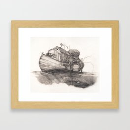 Hanging in a Houseboat Framed Art Print
