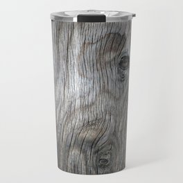 Real Aged Silver Wood Travel Mug