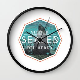 Signed Sealed Delivered Wall Clock