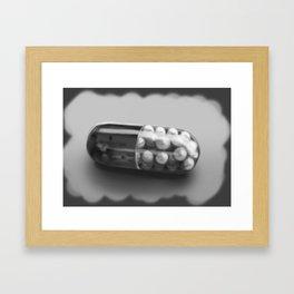 Mr Brightside Pill - Personalisation Available Framed Art Print